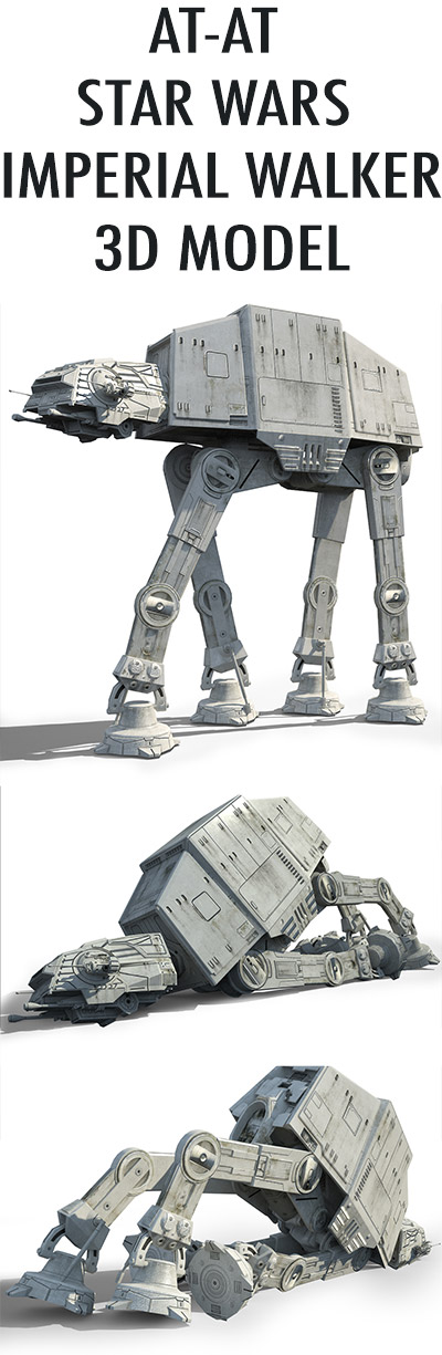 Game Ready Star Wars AT-AT Imperial Walker 3D model promo
