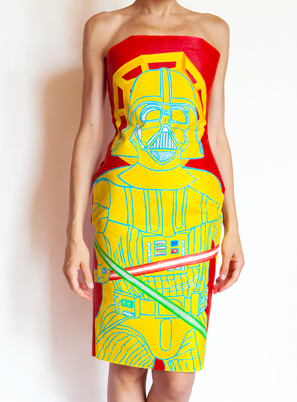 Darth Vader Strapless Dress - Hand Painted One of a Kind