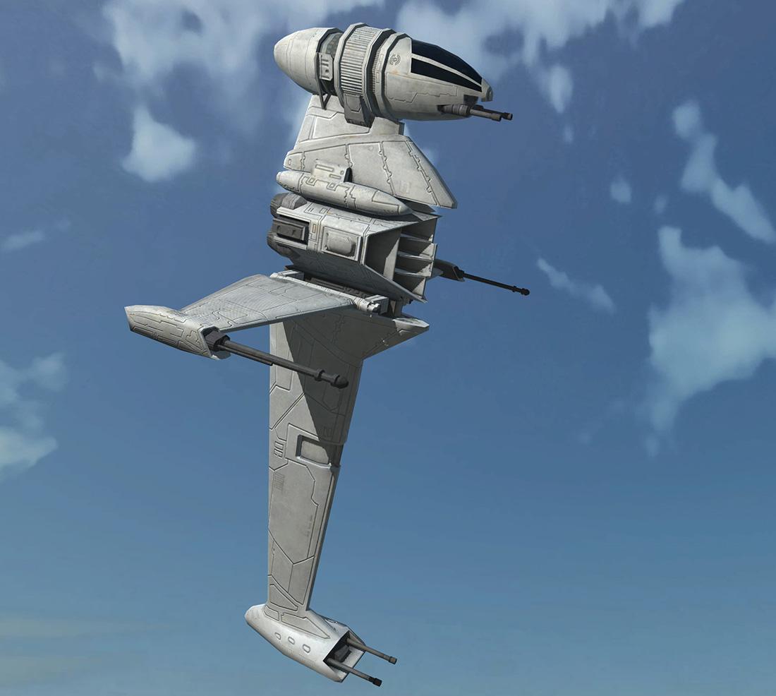 Game Ready Star Wars B-wing 3D Model