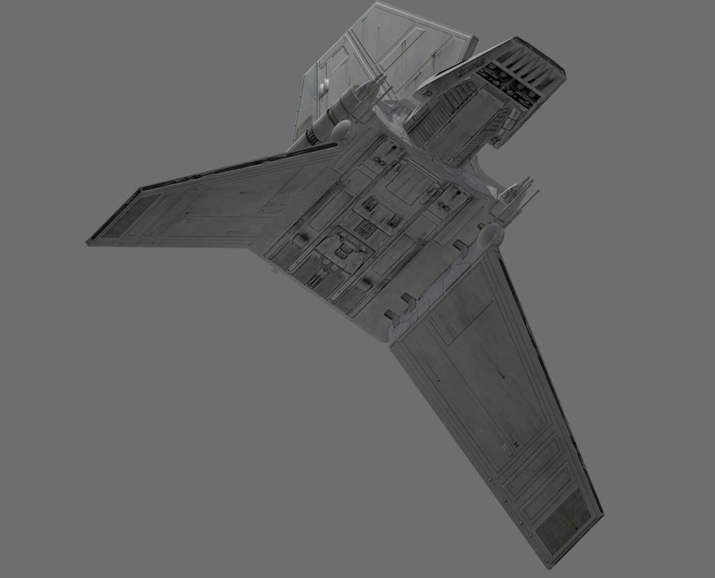 Game Ready Star Wars Imperial Shuttle 3D Model - Lambda-class T-4a shuttle