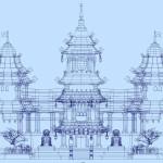 fantasy-castle-wirefram-maya