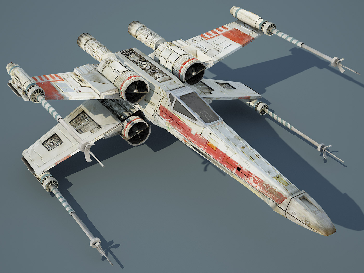 Game Ready Star Wars X-Wing Starfighter 3D model