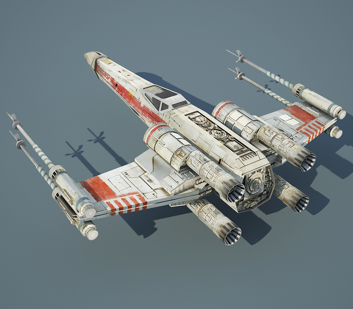 game ready star wars xwing starfighter 3d model minor