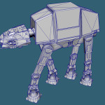Game Ready Star Wars AT-AT Imperial Walker 3D model