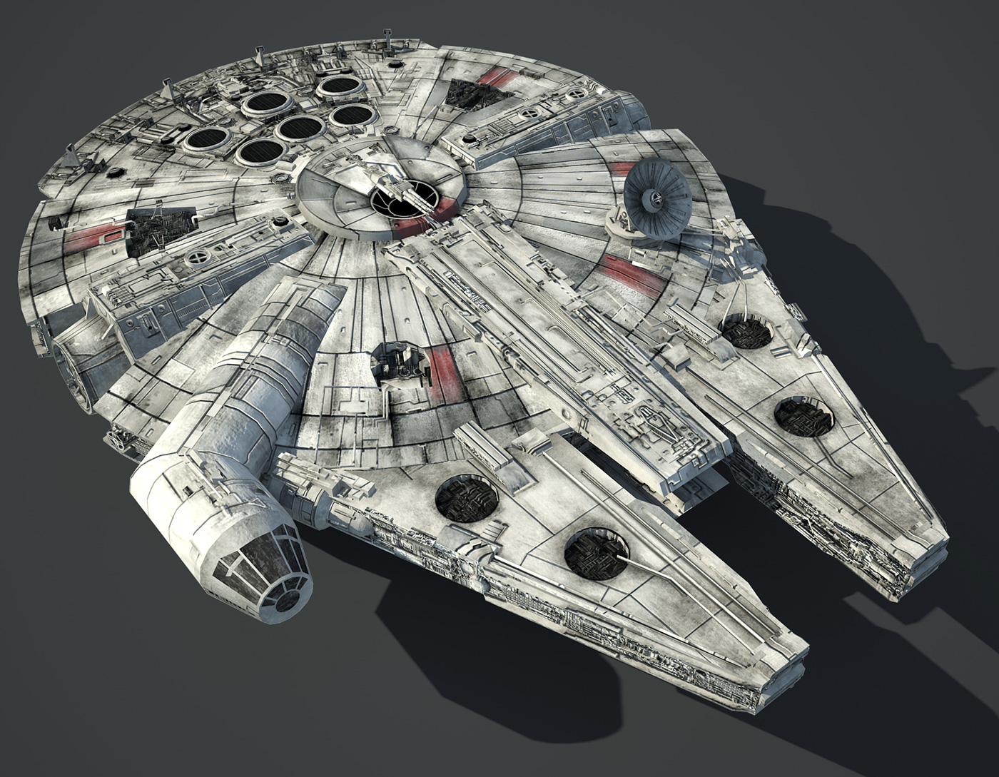 Game Ready Star Wars Millennium Falcon 3D model