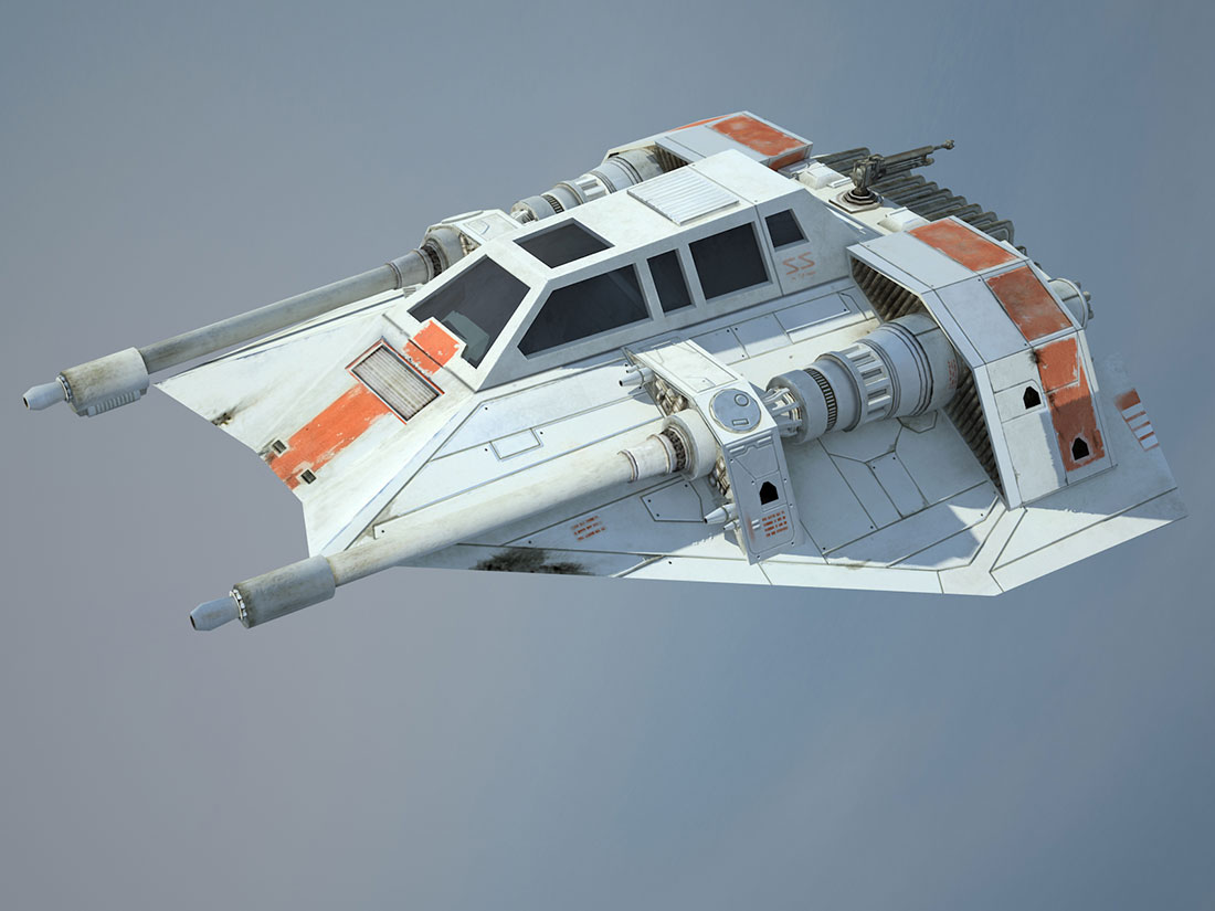 Game Ready Star Wars T-47 Airspeeder (Snowspeeder) - 3D render