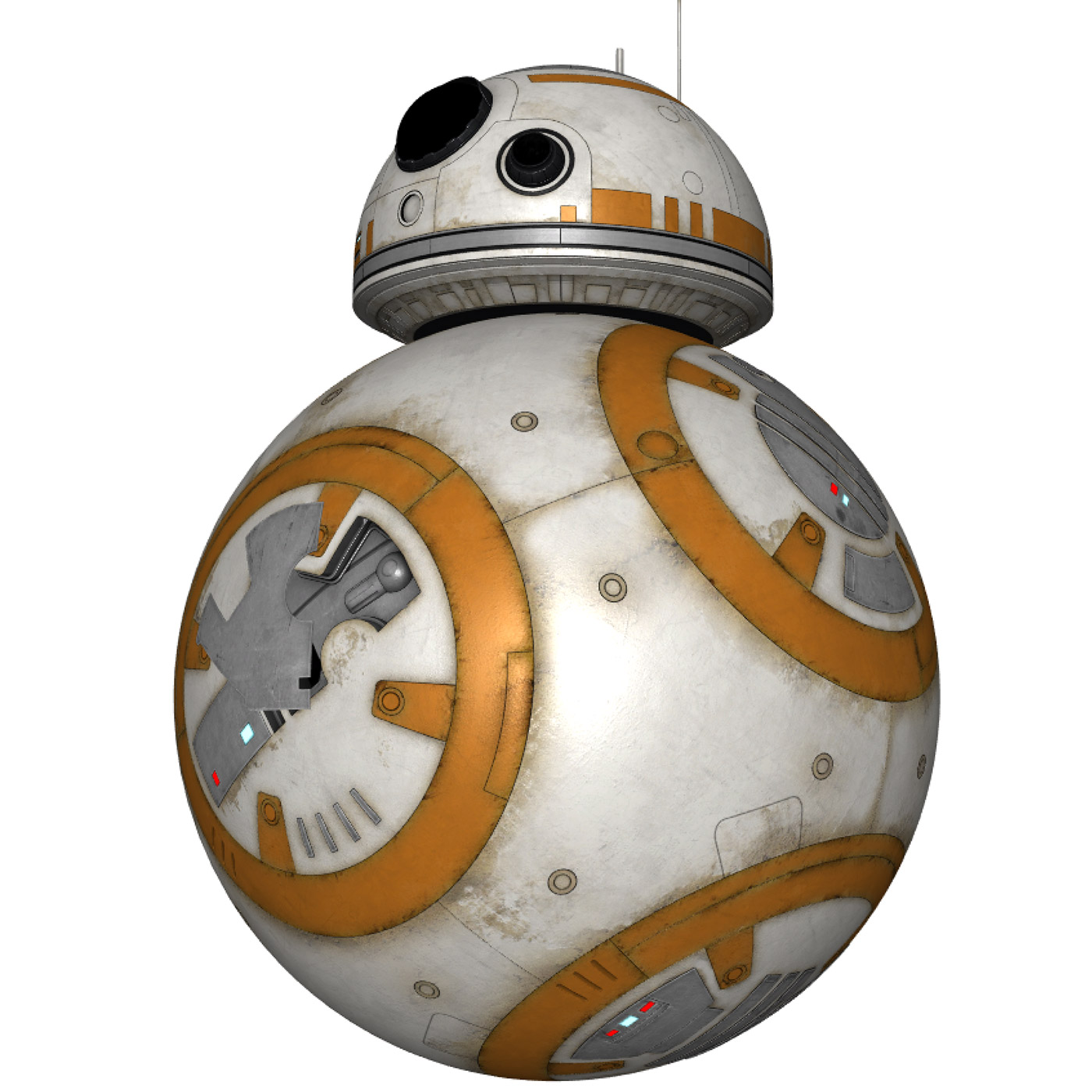 Star Wars BB-8 3D Model - your favorite BB-8 from The Force Awakens
