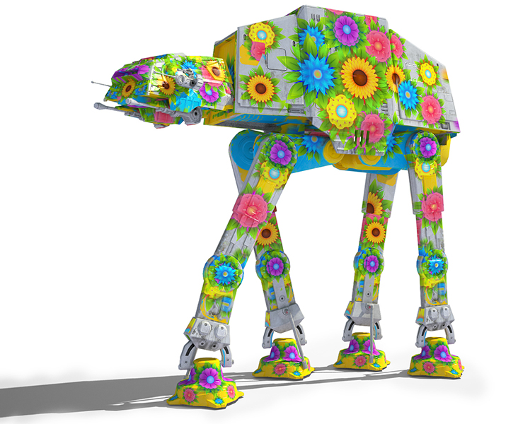 Flowery Game Ready Star Wars AT-AT Imperial Walker 3D model