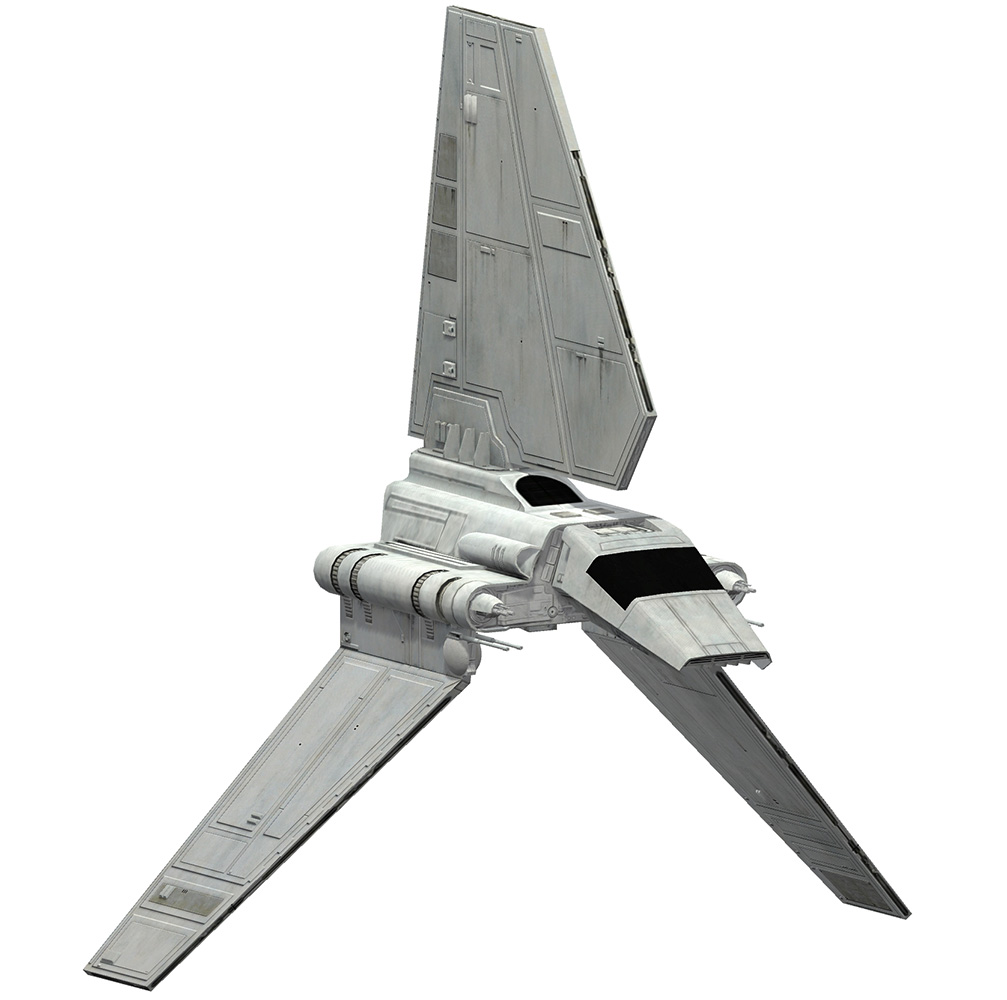 Game Ready Star Wars Imperial Shuttle class Lambda 3D Model