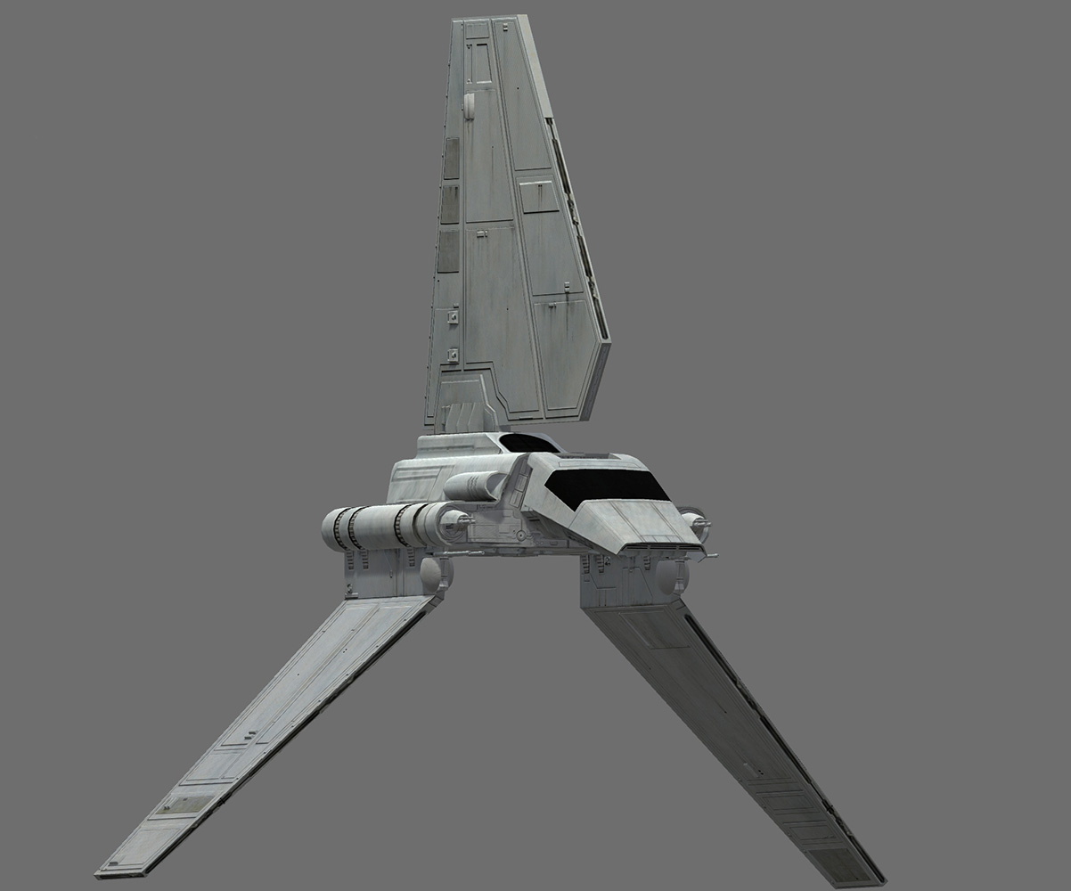 Game Ready Star Wars Imperial Shuttle 3D Model - Lambda-class T-4a shuttle.